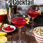 pinterest Image with text for the run it back cocktail