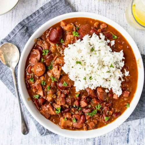 Instant Pot Red Beans and Rice (Crock Pot too!)