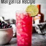 Blueberry Margarita Pinterest Image