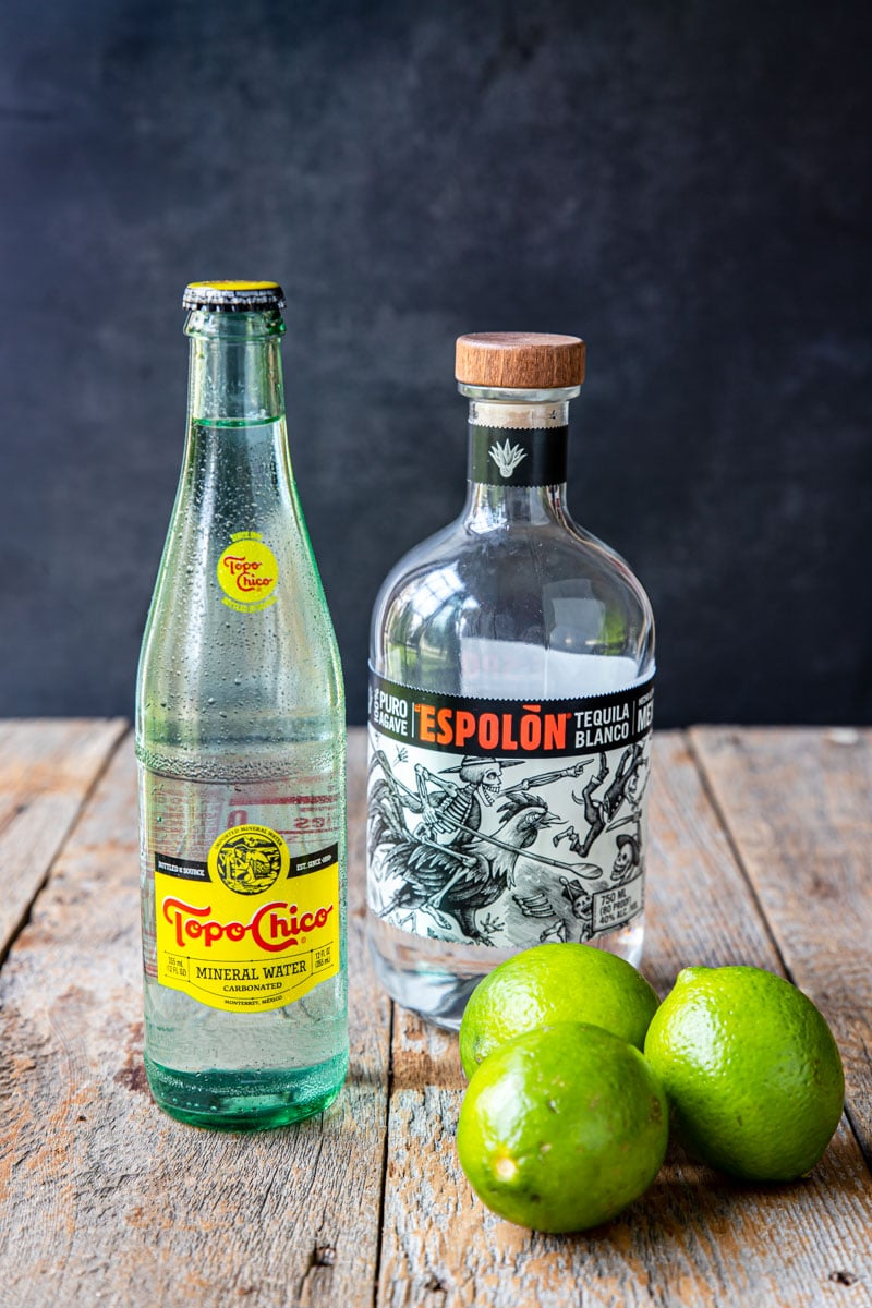 tequila, limes and Topo Chico