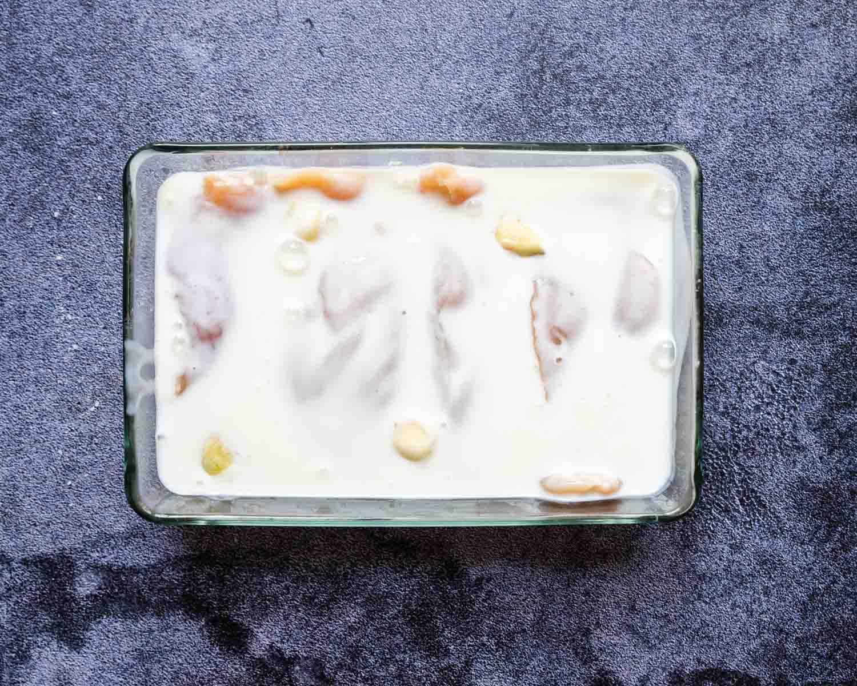 chicken breasts in buttermilk with garlic