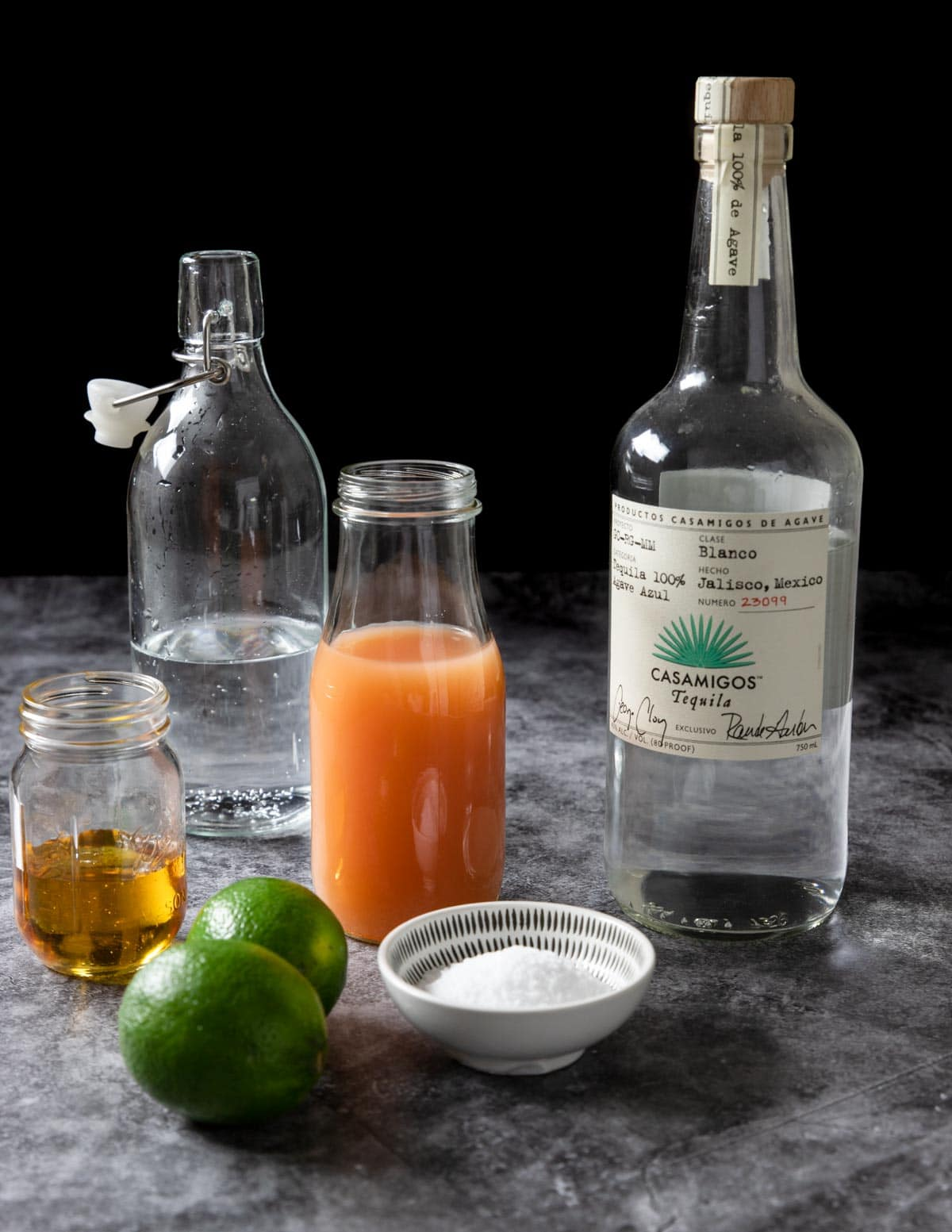 Ingredients for a Paloma