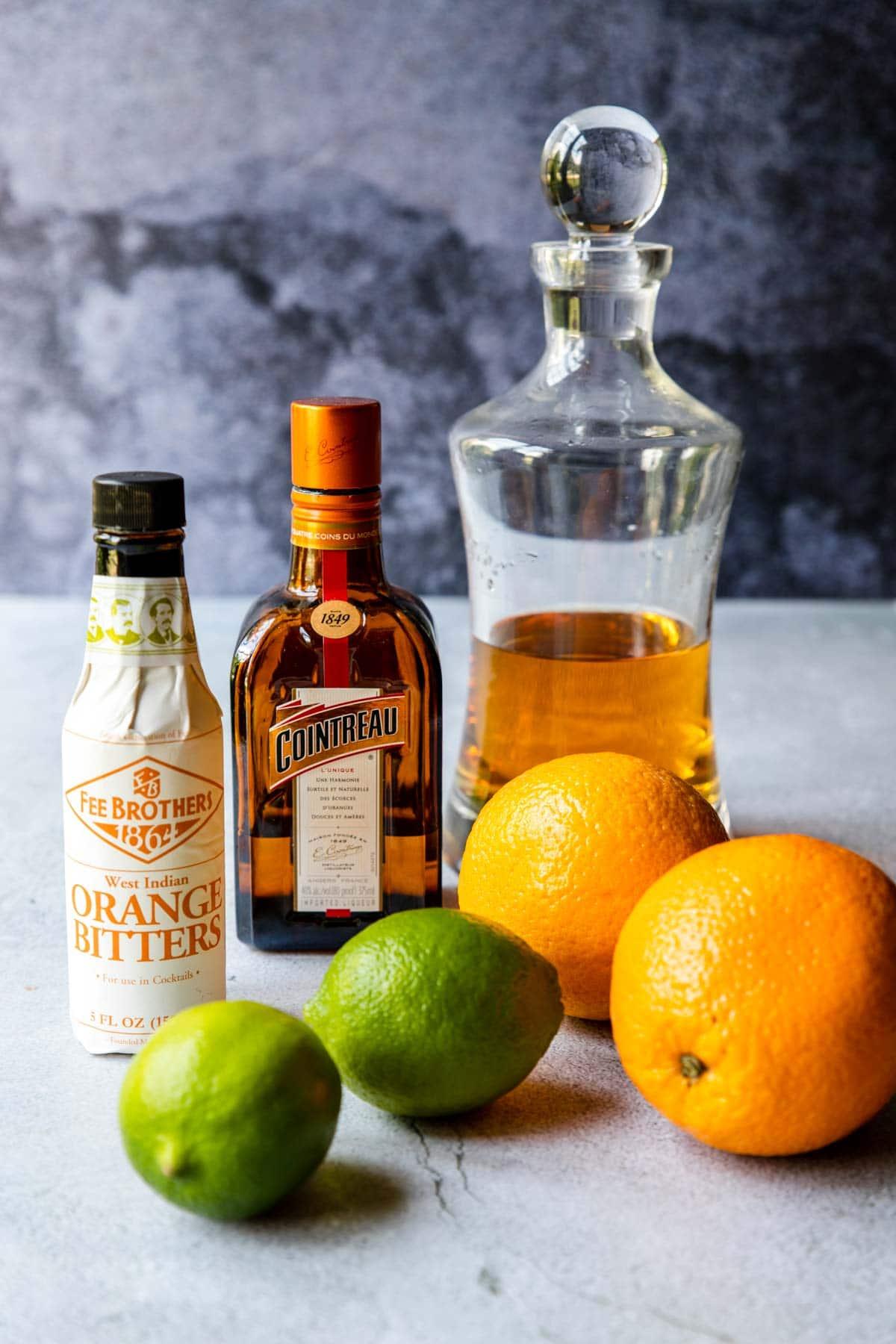5 ingredients for an orange margarita