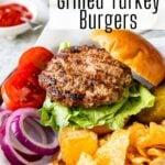 Grilled Turkey Burger pin