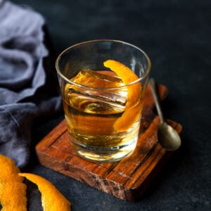 An Old Fashioned made with Anejo Tequila