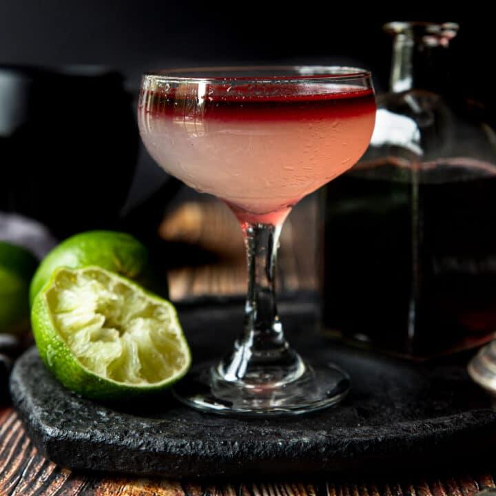 Devil's Margarita in a stemmed glass